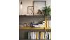 TERANNE - Table tonneau pied central, plateau céramique, 1 allonge de 40 cm