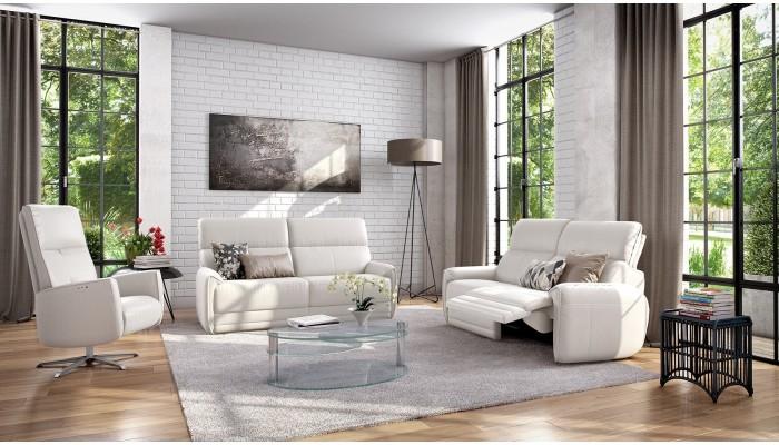 UNO - Composition TV décor blanc