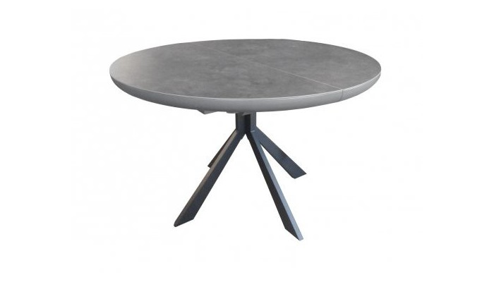 Concept Table Ronde 1 Allonge Centrale Papillon 40 Cm Plateau Ceramique