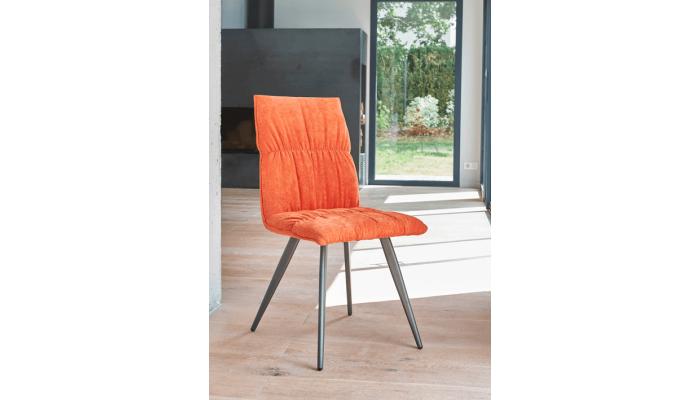 CONCEPT - Chaise en tissu et pieds en...