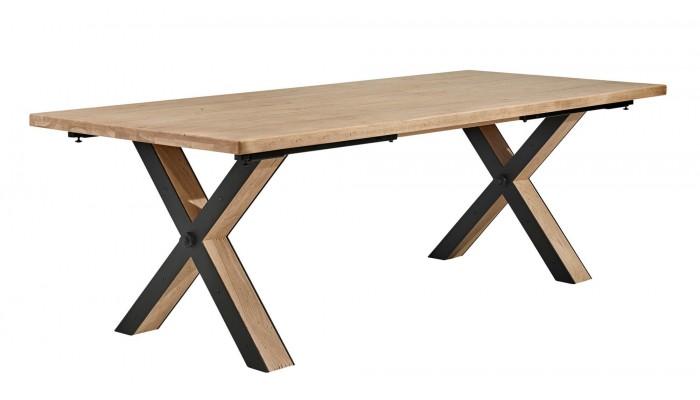 BROOK - Table plateau fixe en chêne...