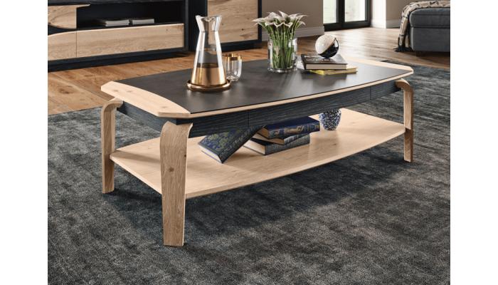 FLORE - Table basse 1 tiroir chêne...