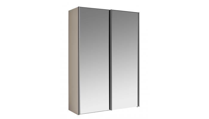 LOFT - Armoire 2 portes miroir