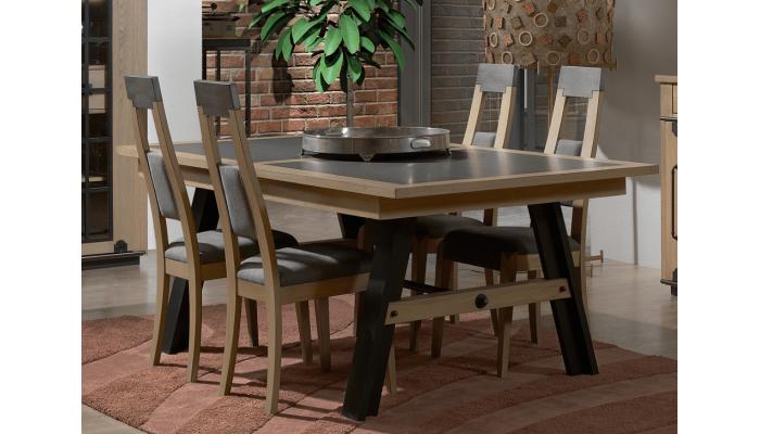 CLEVELAND - Table 4 pieds 1 allonge...