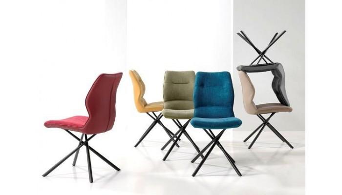 WISH - Chaise en tissu et simili cuir...