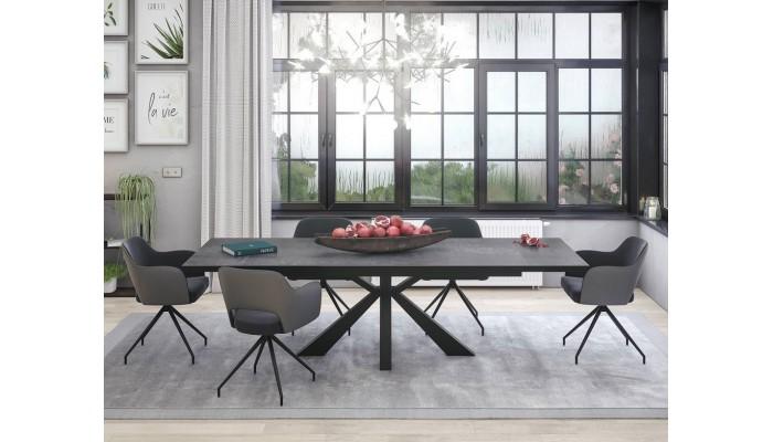 Table haute pieds métal YANG