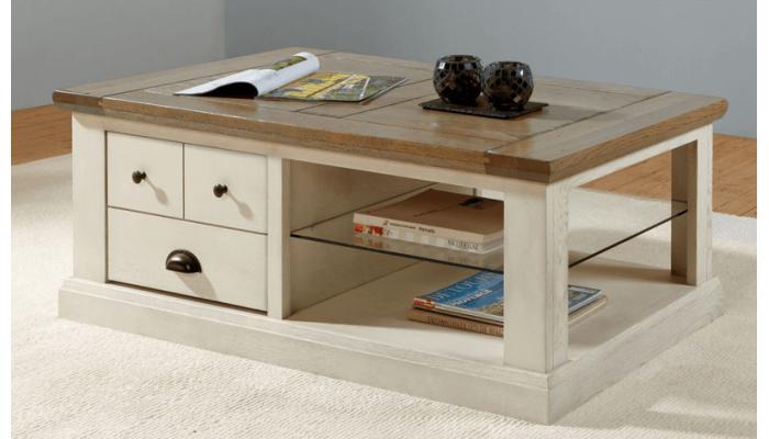 CANTIQUE - Table basse un tiroir...