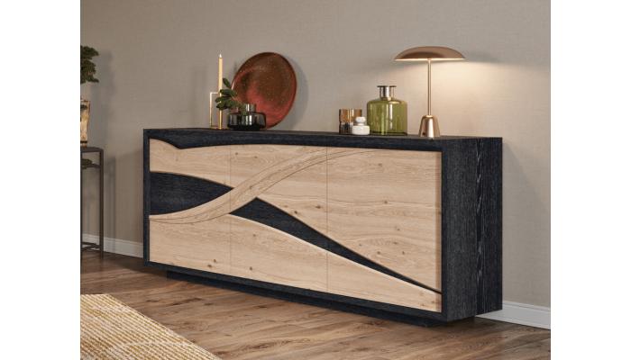 FLORE - Enfilade 3 portes 1 tiroir...