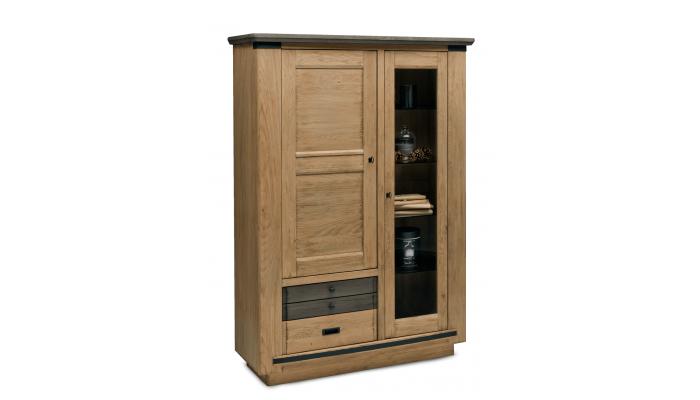 NESS - Meuble TV 2 portes, 1 tiroir