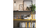SOON - Ensemble rangement, bureau, armoire d'angle et mezzanine couchage 190x90 cm