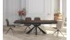 CANTO - Table rectangulaire 2 allonges de 45 cm en bout